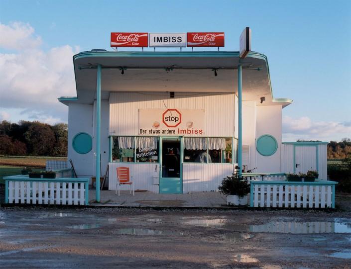 Tankstellenrecycling: Eine ehemalige Tankstelle als Restaurant – übrigens konnte man dort a la carte essen.